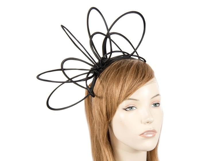 Black loops on headband fascinator Fascinators.com.au