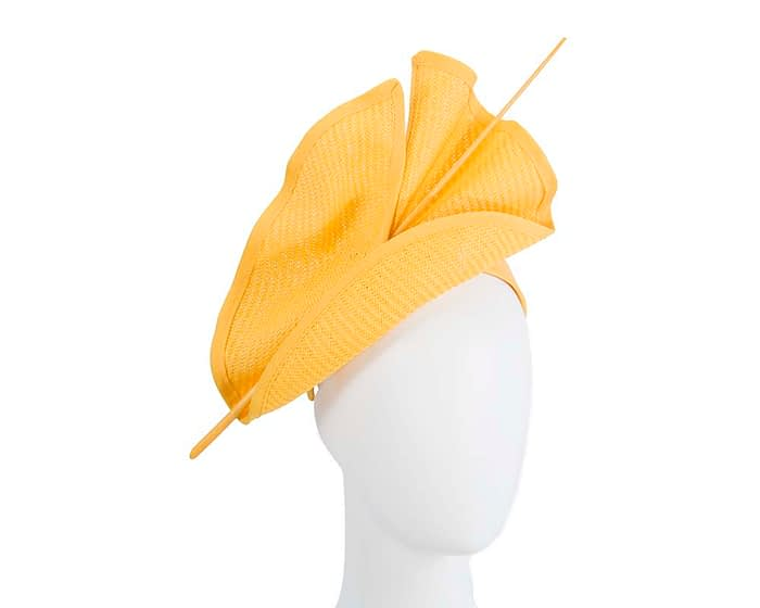 Bright yellow Australian Made racing fascinator by Max Alexander MA686Y Fascinators.com.au