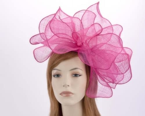 Large fuchsia racing fascinator MA630F Fascinators.com.au