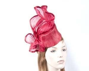 Red cocktail hat S974R Fascinators.com.au
