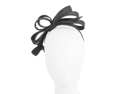 Black bow racing fascinator Fascinators.com.au