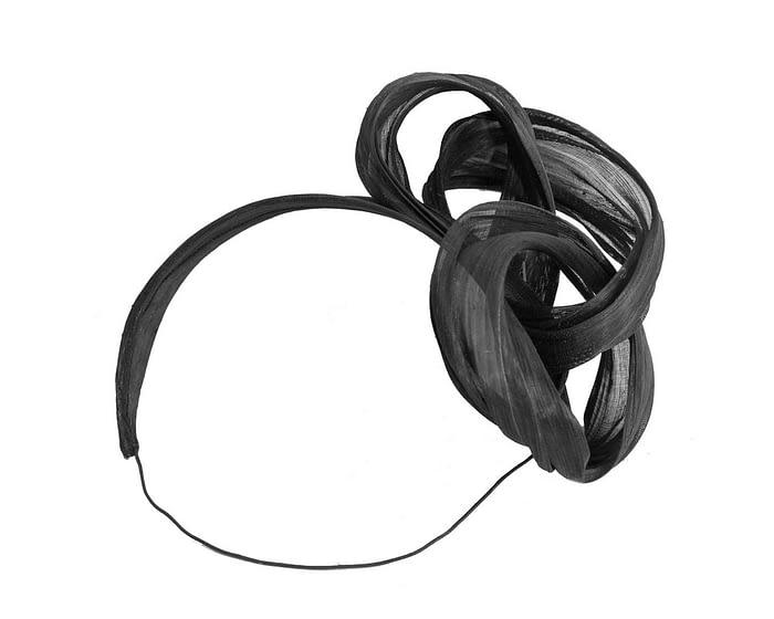 Black retro headband racing fascinator by Fillies Collection Fascinators.com.au