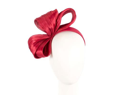 Large red bow racing fascinator by Fillies Collection Fascinators.com.au
