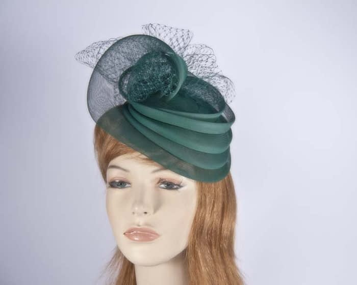 Green cocktail hats K4797EG Fascinators.com.au