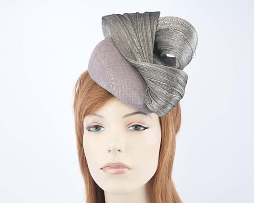 Australian made silver Fillies Collection pillbox fascinator S163S Fascinators.com.au