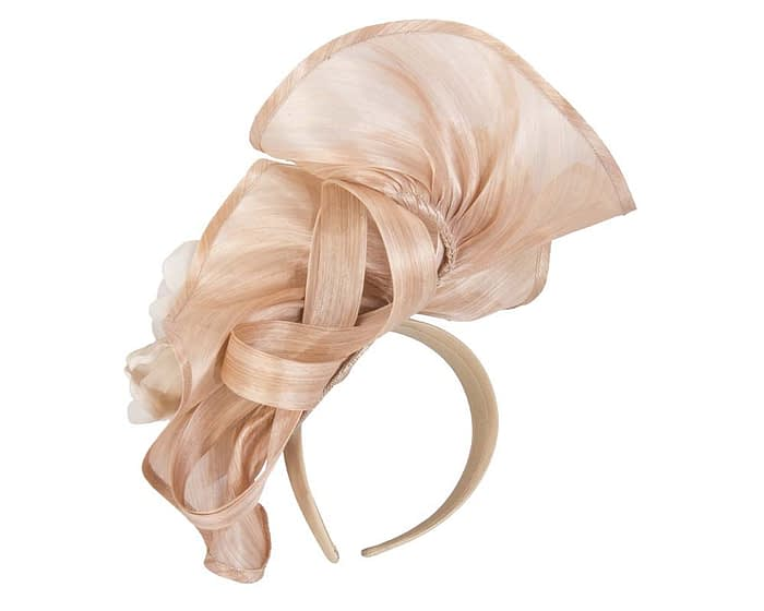 Bespoke nude flower fascinator Fascinators.com.au
