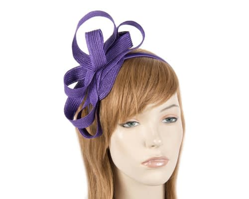 Purple loops racing fascinator Fascinators.com.au