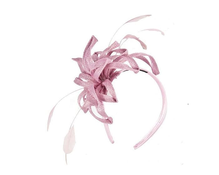 Pink sinamay loops fascinator Fascinators.com.au