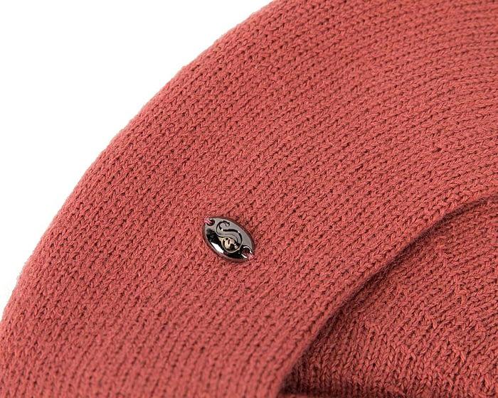 Classic warm brick red wool beret. Made in Europe Fascinators.com.au
