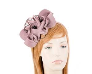 Dusty Pink felt flower fascinator headband Fascinators.com.au