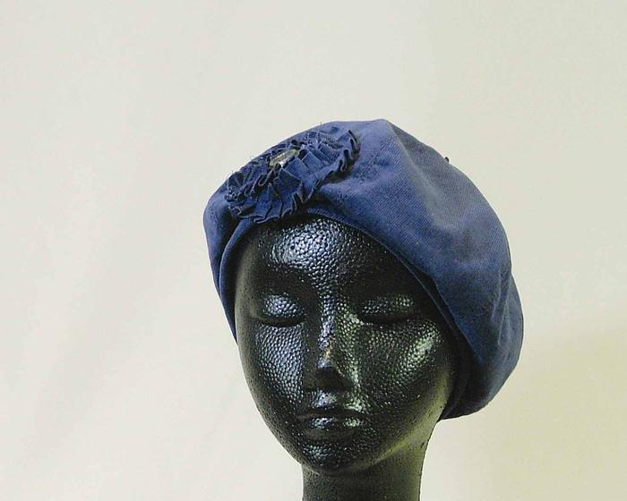 Blue beret hat J107 Fascinators.com.au