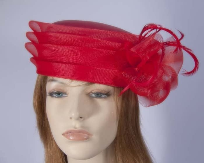 Red fashion hats H892R Fascinators.com.au