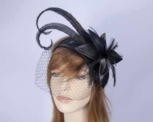 Black fascinators K4799VB Fascinators.com.au