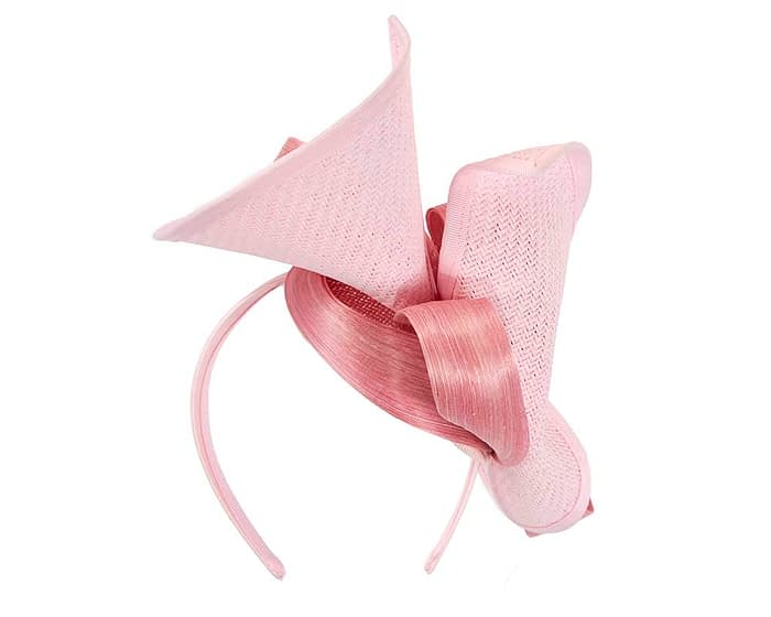 Pink designers racing fascinator with bow by Fillies Collection Fascinators.com.au