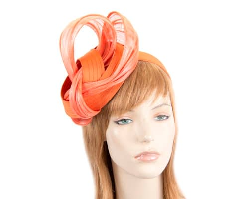 Orange racing fascinator by Fillies Collection Fascinators.com.au