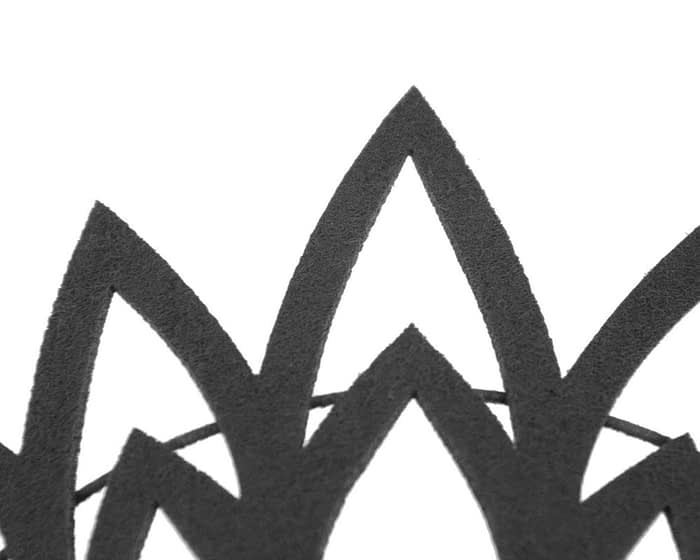 Black laser-cut crown headband by Max Alexander Fascinators.com.au