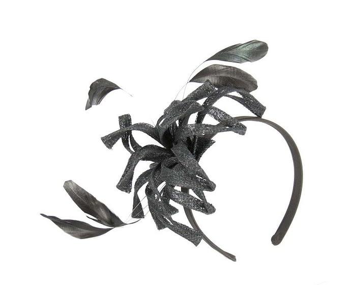 Black sinamay loops fascinator Fascinators.com.au