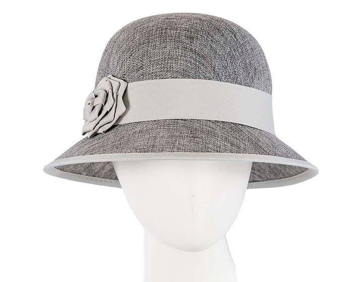 Silver spring racing cloche hat by Max Alexander Fascinators.com.au