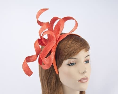 Australian made orange Fillies Collection racing fascinator for Melbourne Cup S169O Fascinators.com.au