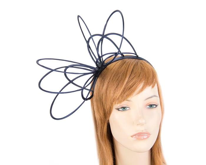 Navy loops on headband fascinator Fascinators.com.au