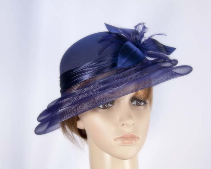 Navy hat H5002N Fascinators.com.au