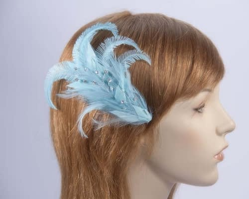 Turquoise Feather Comb 4400TU Fascinators.com.au