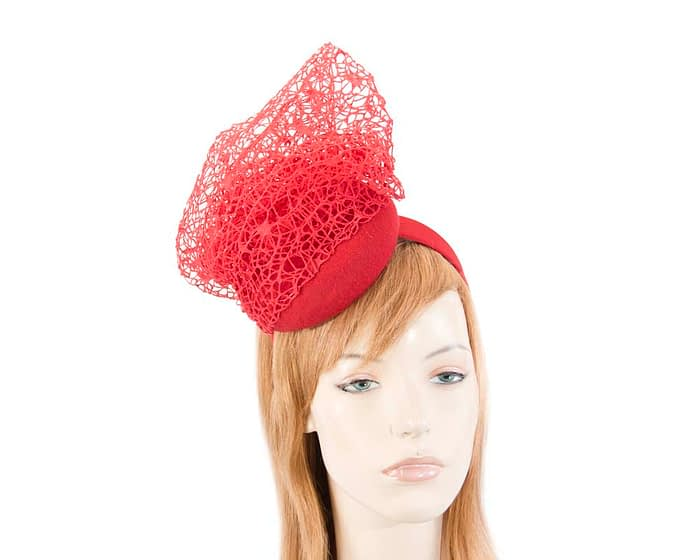 Designers red winter fascinator by Fillies Collection Fascinators.com.au