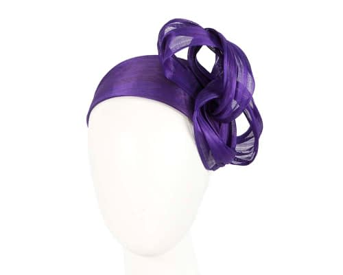 Purple retro headband racing fascinator by Fillies Collection Fascinators.com.au