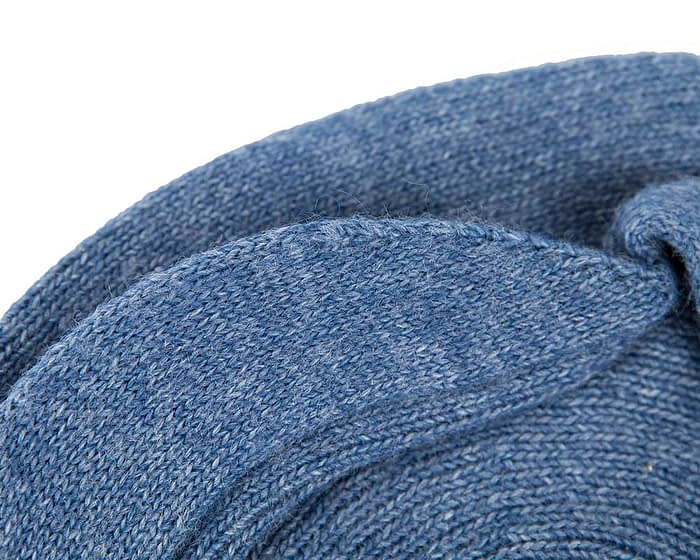 Classic warm denim blue wool beaked cap. Made in Europe Fascinators.com.au