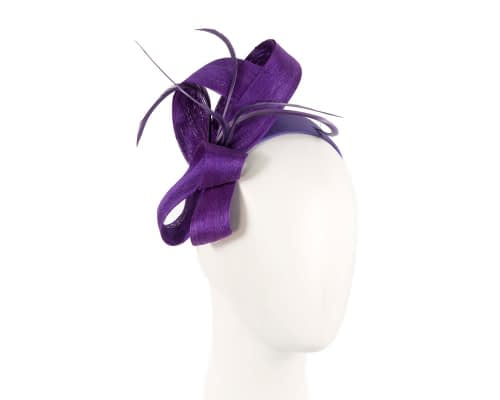 Purple loops & feathers racing fascinator by Fillies Collection Fascinators.com.au