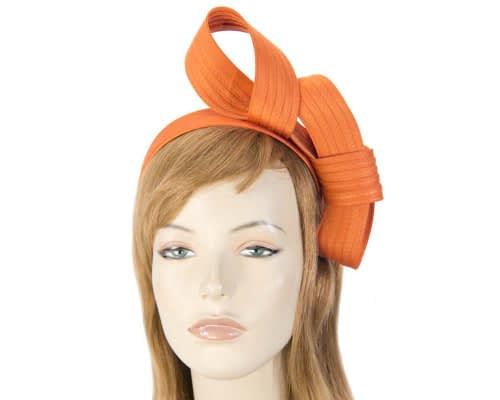 Twisted orange fascinator Fascinators.com.au