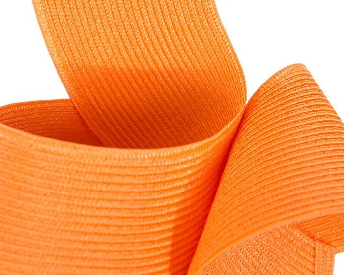 Orange Australian Made racing fascinator by Max Alexander Fascinators.com.au
