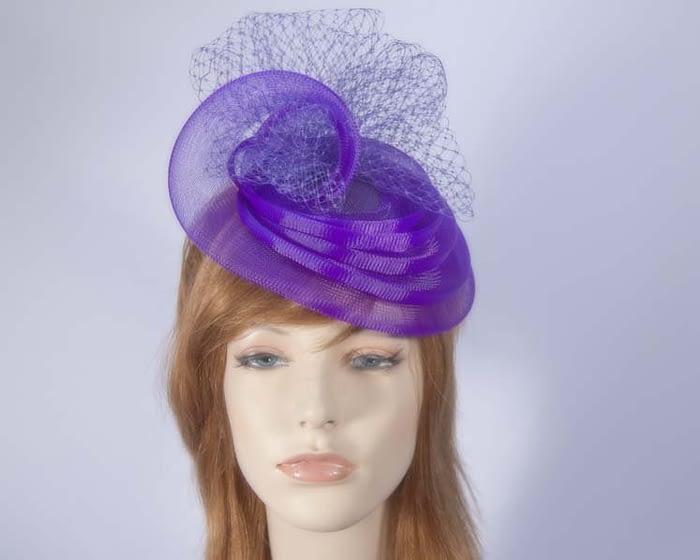 Purple cocktail hats K4797PR Fascinators.com.au