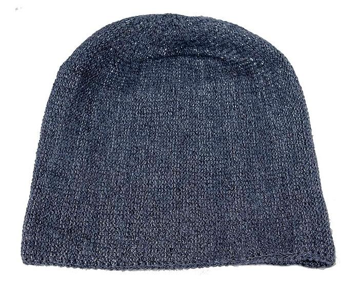 Navy warm wool beanie. Made in Europe Fascinators.com.au