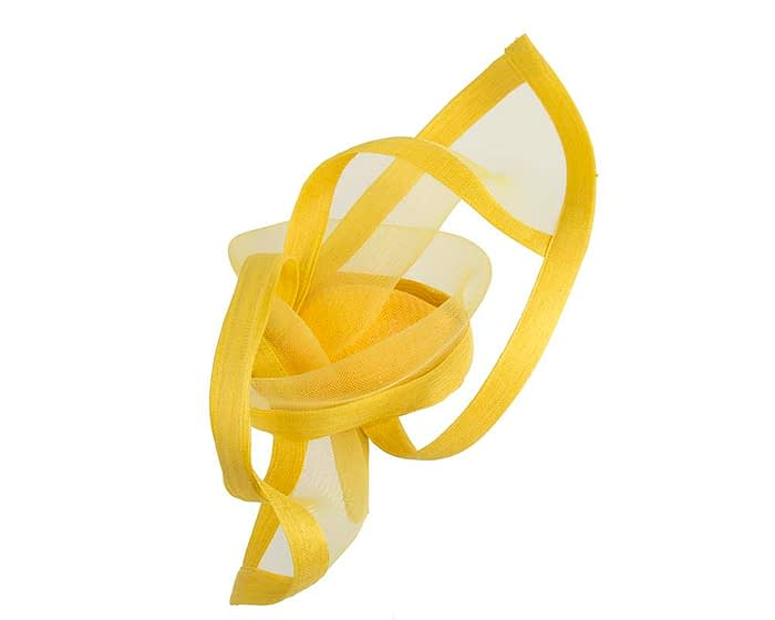 Edgy yellow fascinator by Fillies Collection Fascinators.com.au