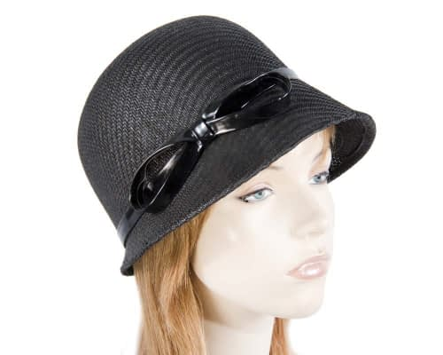 Black cloche hat MA555B Fascinators.com.au