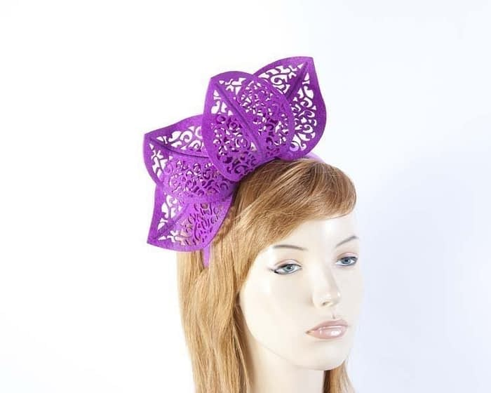 Modern purple fascinator for races by Max Alexander Fascinators.com.au