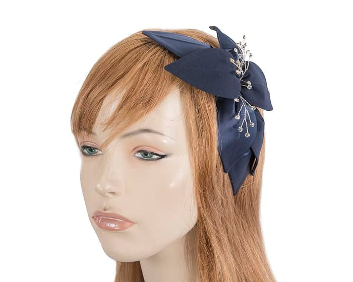 Navy fascinators 4768DN Fascinators.com.au