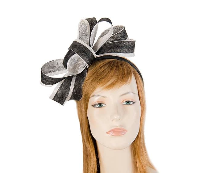 Black and white fascinator by Max Alexander Fascinators.com.au
