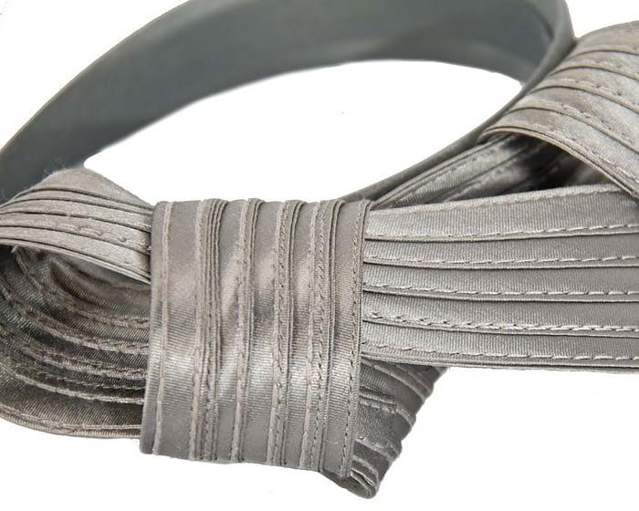 Twisted silver fascinator Fascinators.com.au