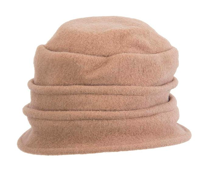 Warm beige woolen European Made bucket hat Fascinators.com.au