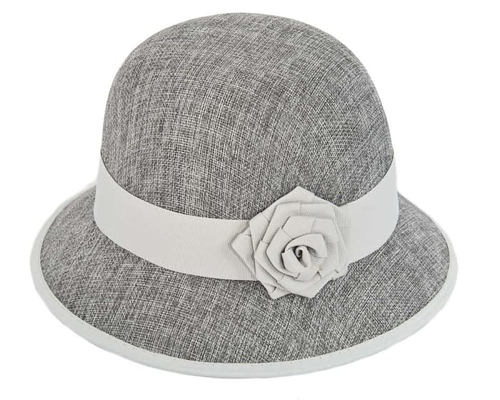 Silver spring racing cloche hat Fascinators.com.au