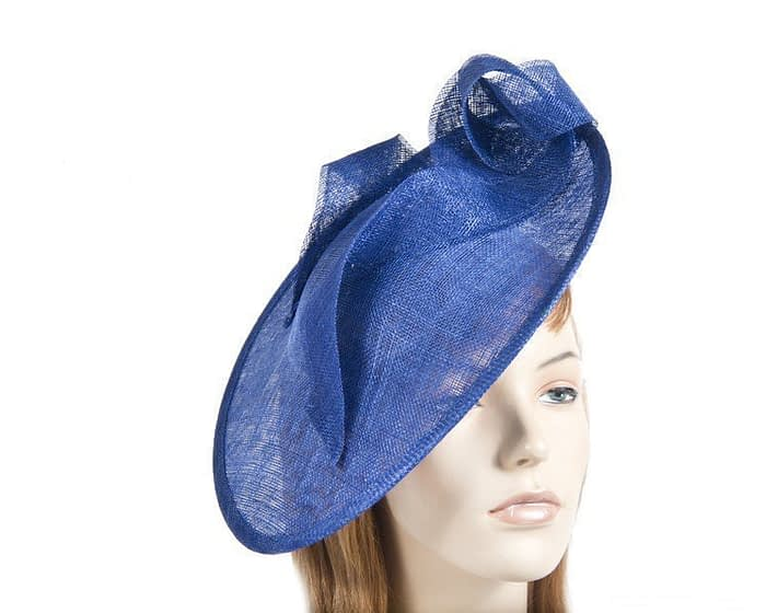 Large cobalt blue plate fascinator Fascinators.com.au