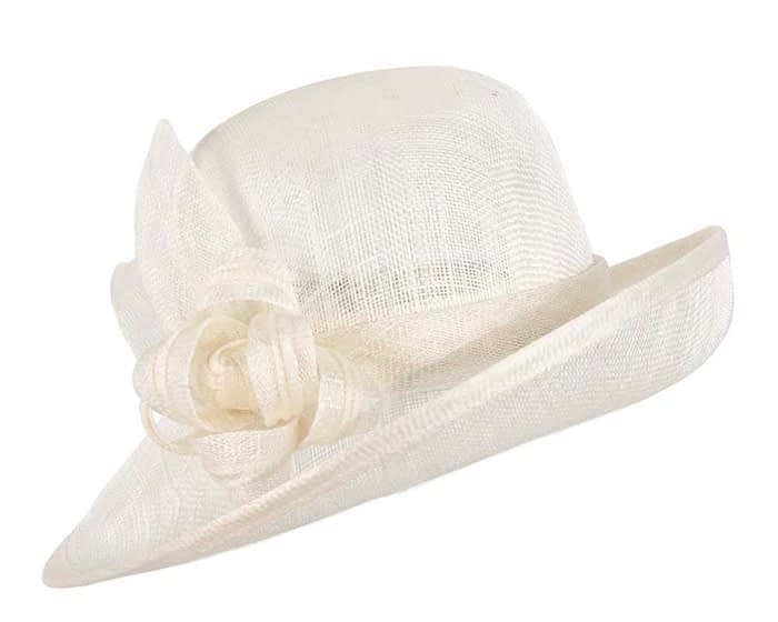 Cream bucket fashion hat Fascinators.com.au