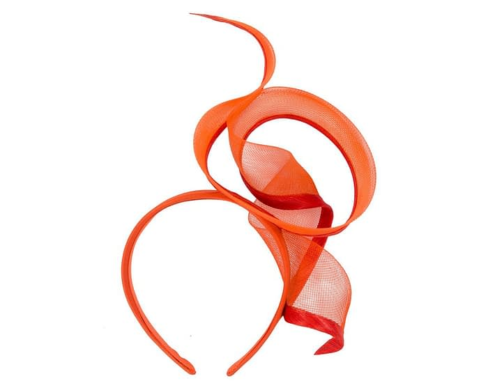 Bespoke orange racing fascinator by Fillies Collection Fascinators.com.au