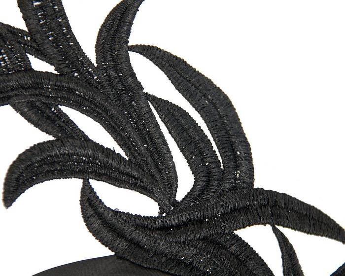 Black lace crown fascinator by Max Alexander Fascinators.com.au