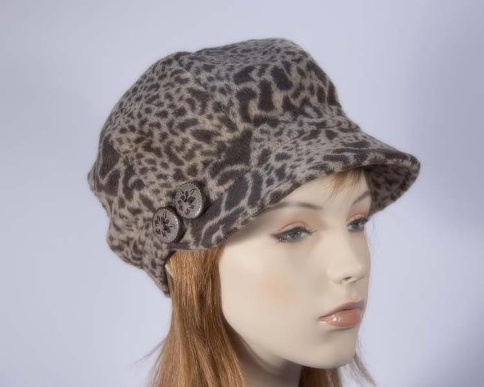 Beige casual beret J283BE Fascinators.com.au