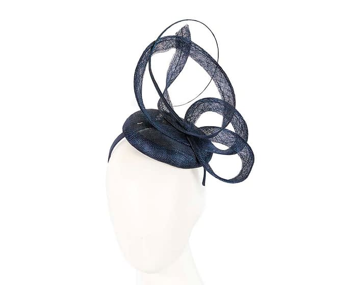 Edgy navy fascinator Fascinators.com.au