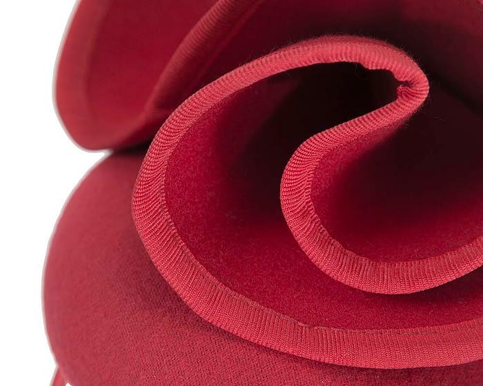 Red felt designers fascinator by Fillies Collection Fascinators.com.au