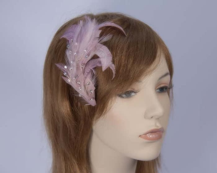 Lilac Feather Comb 4400LI Fascinators.com.au